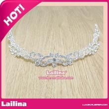 Manufacturers wholesale fashion silver metal plastic princess king bridal tiara wedding hair crown for sale OEM&ODM