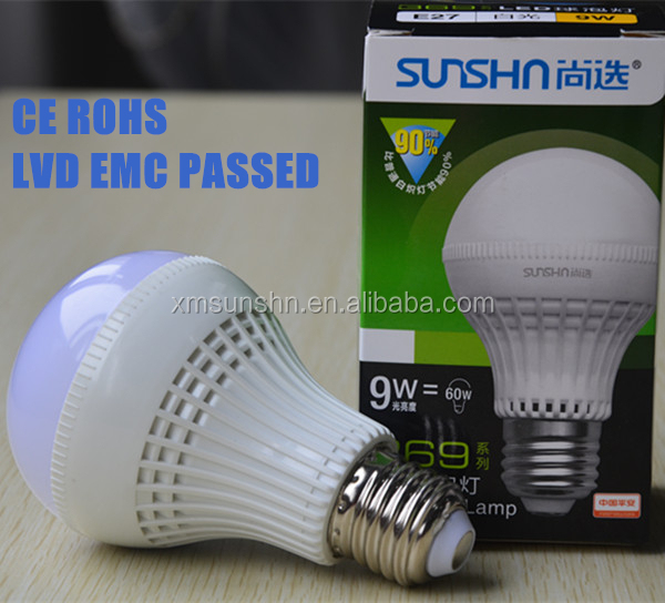 high lumen low decay led bulb 7w ra>82