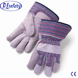 AB/BC grade nature cow split leather fitness glove