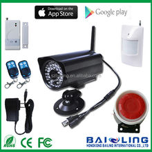 E9 GSM ALARM System can monitor remotely the scene image and sound (by sending message or call to command) smart security alarm
