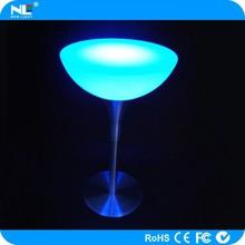 Night club make up illuminated LED light up table / multi color LED bar tables