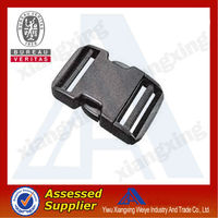 Newest nylon webbing plastic belt buckle for belt no minimum order China manufacture
