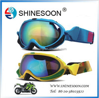 2015 Wholesale Winter Sports Fashional Colorful Frame Snow, Motorcycle Goggles For Adults