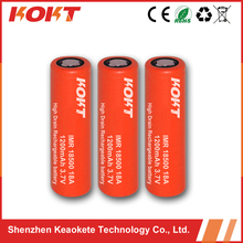 Hot sale KOKT shenzhen battery18500 li ion battery 18A 1200mah 3.7v rechargeable battery