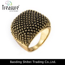 2015 Elegant artificial Gold dot alloy ring rhinestone ring design for women wholesale