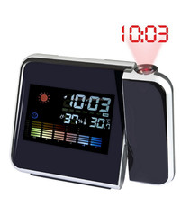 Best selling weather forecast digital alarm clock with projetor time