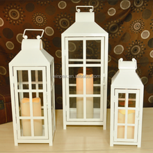 Perfect Home Decor S/3 Assorted Size Storm Metal Lantern With A Handle