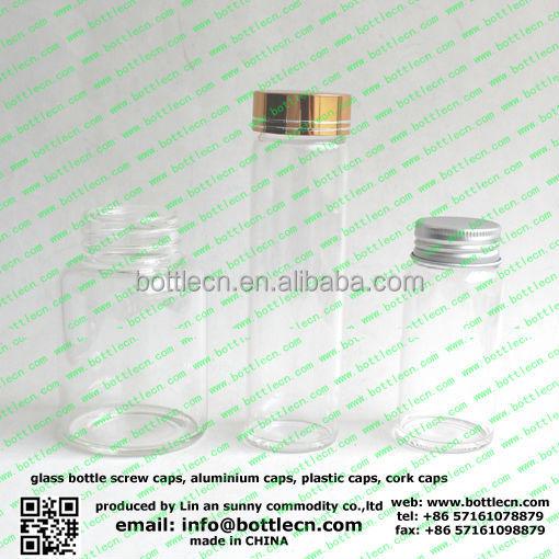 250 ml tube en verre avec bouchon à vis