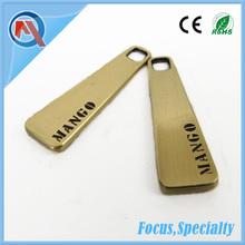 Hot Custom Metal Zipper Pull Wholesale For Garment