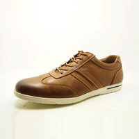 brown color high fashion new men brand leather sport shoes