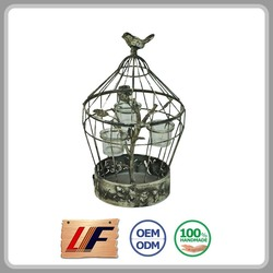 High-End Old Style Cage Shape Outdoor Hanging Lanterns
