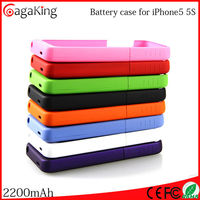 Bank charger for iphone 5s battery case 2200MAH ultrathin best Christmas Gift For iphone case