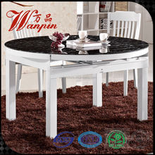 wholsale on sell round extendable glass dining table