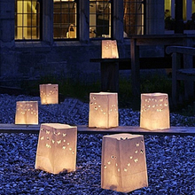 Luminary lantern wax paper candle bags/Glowing paper candle bag/Tealight candle lantern bag for wedding