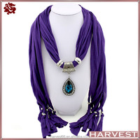 Factory Wholesale Ladies Elegant Gemstone Pendant Scarf With Stock