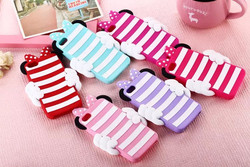 3D cartoon animal stripe Polka dot cow Mouse soft Silicone Case Cover For iphone 5 5g 5s 6 6s