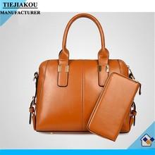 Famous trend leather handbag women purse and hand bags set bag wholesale