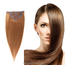 6A Grade #8 Clip in Wholesale With Competitive Price 100% Virgin Brazilian Hair Extensions No Shedding No Tangle