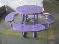 dia1800mm picnic table bench metal park bench