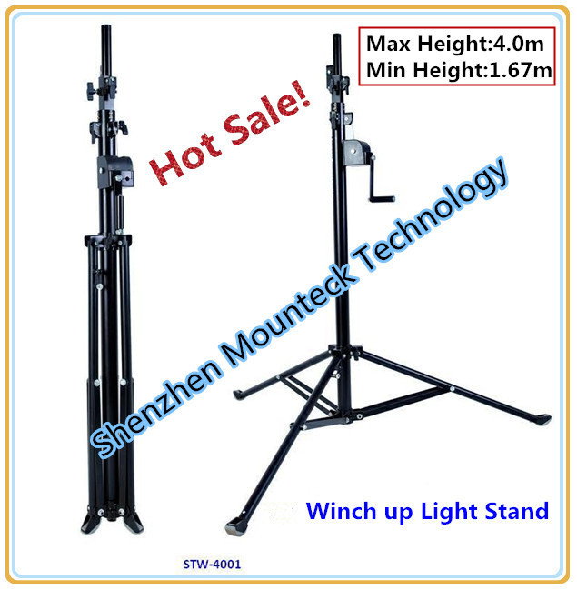 Up to 4 meter Crank handle light stand crystal light stands tube light display stand