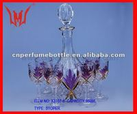 850ml empty wine bottle ,the whole sets glass bottle for tequila