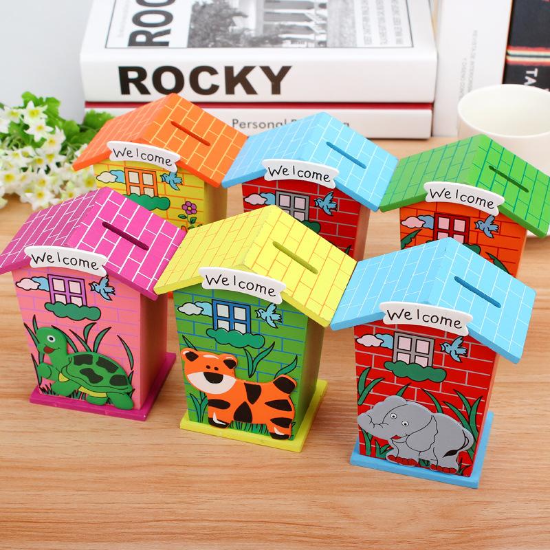 cute house pattern wooden carton money saving box lj1001 buy