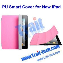low price for iPad 2, 3, 4 Smart fold magnetic leather flip Cover Case