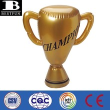 promotional custom made pvc inflatable trophy cup plastic golden campaign trophy world cup trophy