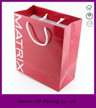 China printing custom paper shopping bag