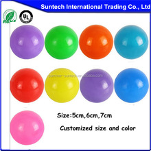 High quality funny baby toy 6 inch plastic ball