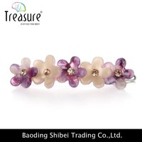 New fashion Multicolor Flower shape crystal Acrylic barrettes 2015 bridal hair accessories hairpin Wholesale WFG10029