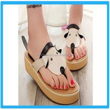 2015 Summer Cute PU New Design Flip Flops