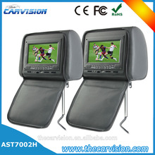 """Thecarvision 7"""" Wide screen leather custom headrest dvd player for Car Entertainment Systems"""
