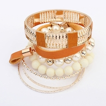 Faddish Fashion European And American Style Pearl Hot Sale Women Bracelet Bangles