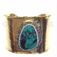 Modern Turkish Turquoise Druzy Wholesale Bracelet Jewellery From Istanbul Turkey Turkish