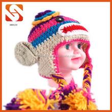 cute newborn baby handmade crochet monkey hat
