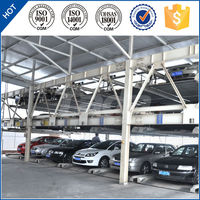 psh 3 floor puzzle lift and slide car parking shed system