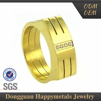 Top Selling Customized Indian Ladies Gold Finger Ring