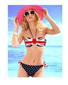 2014 novos mulher sexy swimwear biquíni maiôs eua bandeira nacional