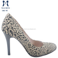 2015 Latest sexy leopard round toe fashion women high heels ladies pumps shoes