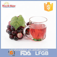 Transparent colorful mug cup and soft tube cup with handle for coffee water beer juice