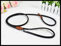 2014 customized design genuine leather dog leads emboss your LOGO