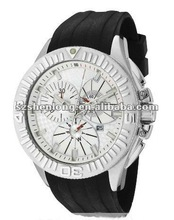 basketball-like stainless steel watch under RoHS