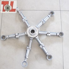 Four-arm Stainless Steel Glass Spider Spider Clamp Stainless Grass Spider Fitting