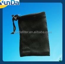 Thin black mesh drawstring bags for soaps