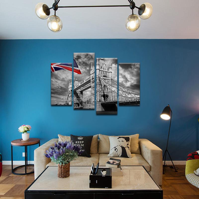 Londra tela canvas stampa orizzontale/città moderna vista digitale ...