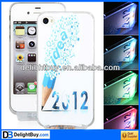 2012 Pattern Flasher LED Color Changed Case for iPhone 4/4S (Flash While Calling