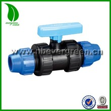 irrigation equal compression coupling valve for pe pipe