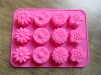 2015 new style flower cake mould,silicone rubber FDA ecofriendly cake bakeware