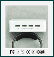 Universal multi port usb mobile phone travel charger for smart phone, tablet with high quality
